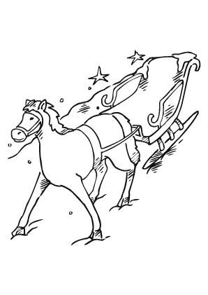Ausmalbild Pferd Zieht Nikolausschlitten Ausmalbilder Pferde Ausmalbilder Ausmalbilder Nikolaus