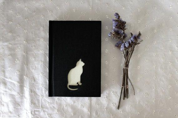 CAT Notebook, Hardcover Sketchbook, Art Journal, Personalized Diary, Personalized Notebook, Drawing Book, Custom Notebook, Cat Gift
