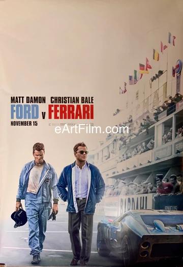 Ford V Ferrari 2019 27x40 Ds Unfolded Christian Bale Matt Damon