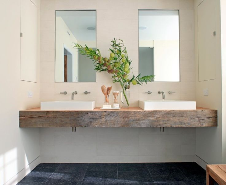 Chunky Timber Vanity Bench Top Bathrooms Amp Power Rooms