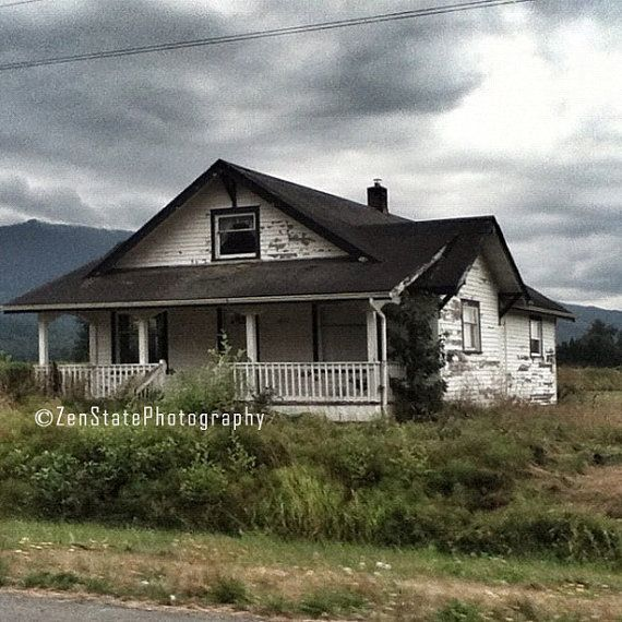 Rustic House Photo Print. The Lonely House Photography