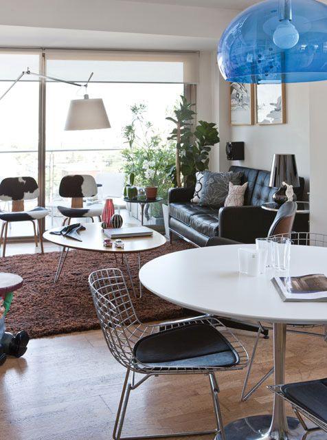 Pocos metros mucho dise o comedor living decoracion for Diseno apartamentos duplex pequenos