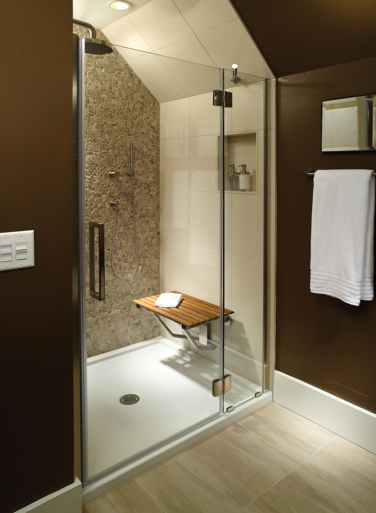 sitting area bathroom mti low profile multiple threshold shower bath