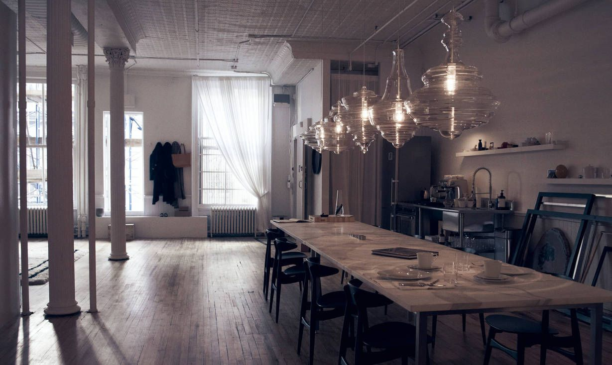 The Line Apartment, NY, so open, light filled. A gorgeous dining area.