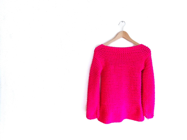 CROCHET PATTERN DIY sweater woman's beginner her por joyofmotion