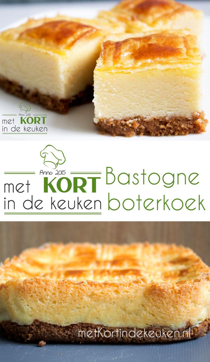 Recept voor een Bastogne Boterkoek (Dutch Bastogne Buttercake). Wat heb je nodig: Koekbodem: 40 gram boter 130 gram bastognekoeken (half pak) Boterkoek: 300 gram bloem 250 gram suiker 300 gram boter + extra om in te vetten 100 gram kristalsuiker 100 gram witte basterdsuiker 1 ei  #boterkoek #bastogne #bastognekoeken #dutch #buttercake #hollands #foodie
