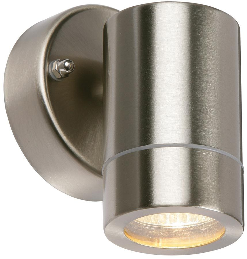 the palin modern stainless steel outdoor wall down spot light rated