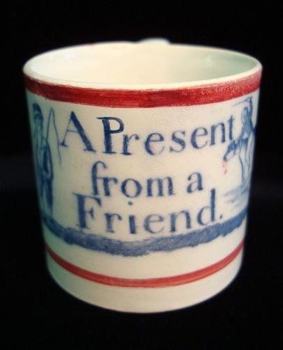 Creamware Child S Mug A Present From A Friend 1820 Mugs Childrens Mugs Antique Pottery