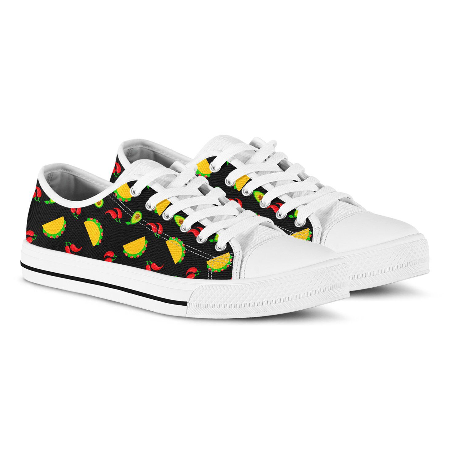 e98d206720d07 Taco print sneakers | Sneakers I Want To Own | Sneakers, Black ...