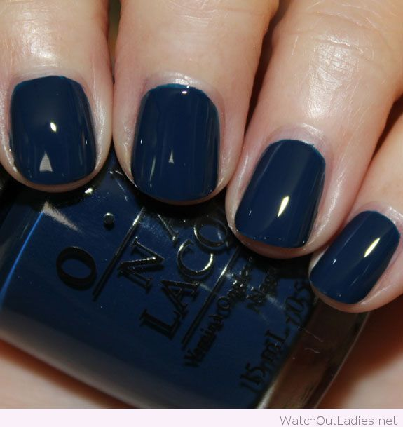Navy OPI nail polish   watchoutladies.net   Pinterest   Opi nails ...