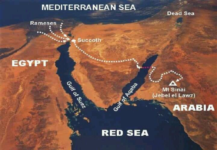 This Site Shows Evidence Of The Exodus Route To Mt Sinai Where