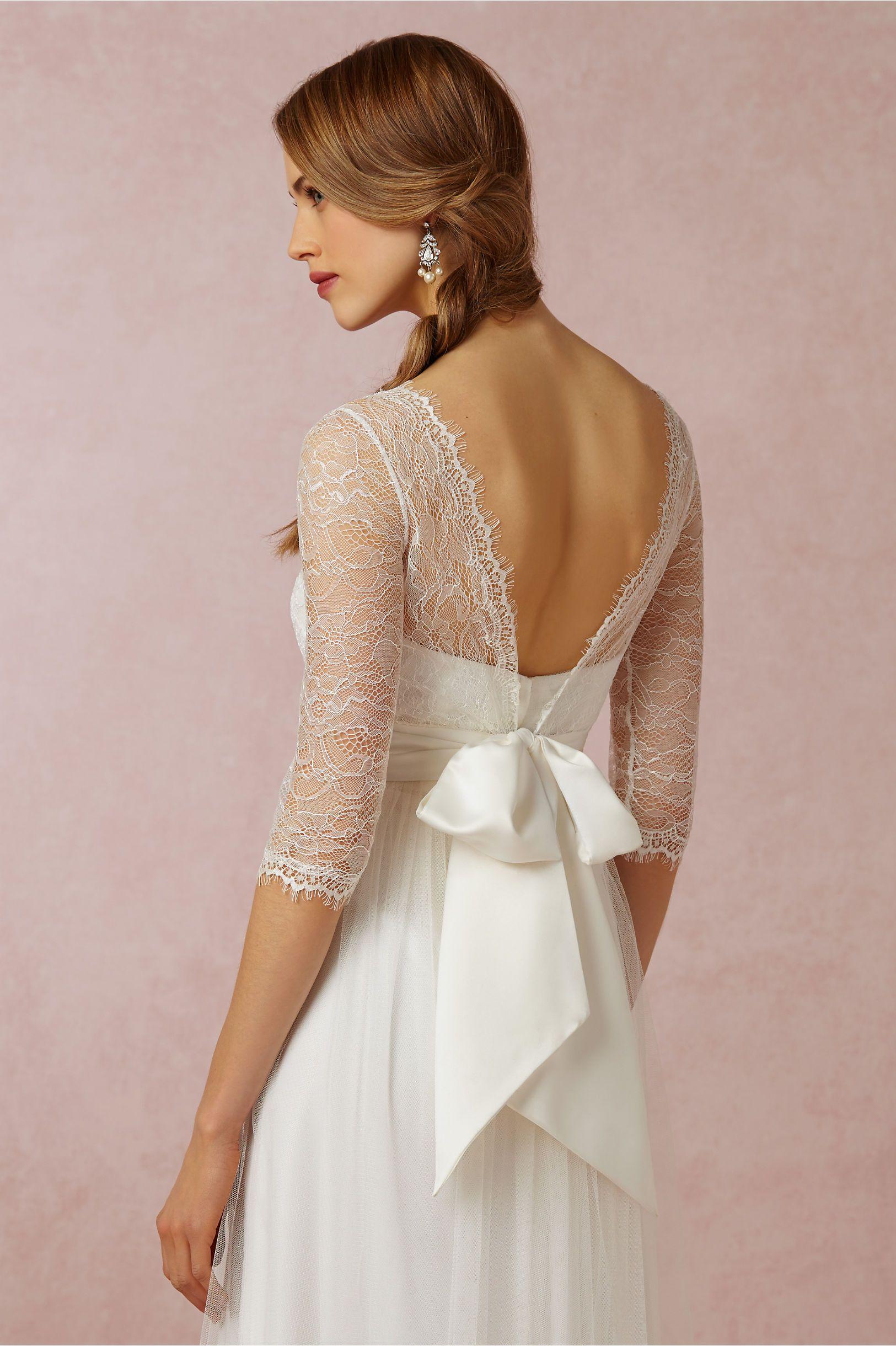 BHLDN Annabelle Dress & Marnie Topper in Bride Wedding Dresses at ...