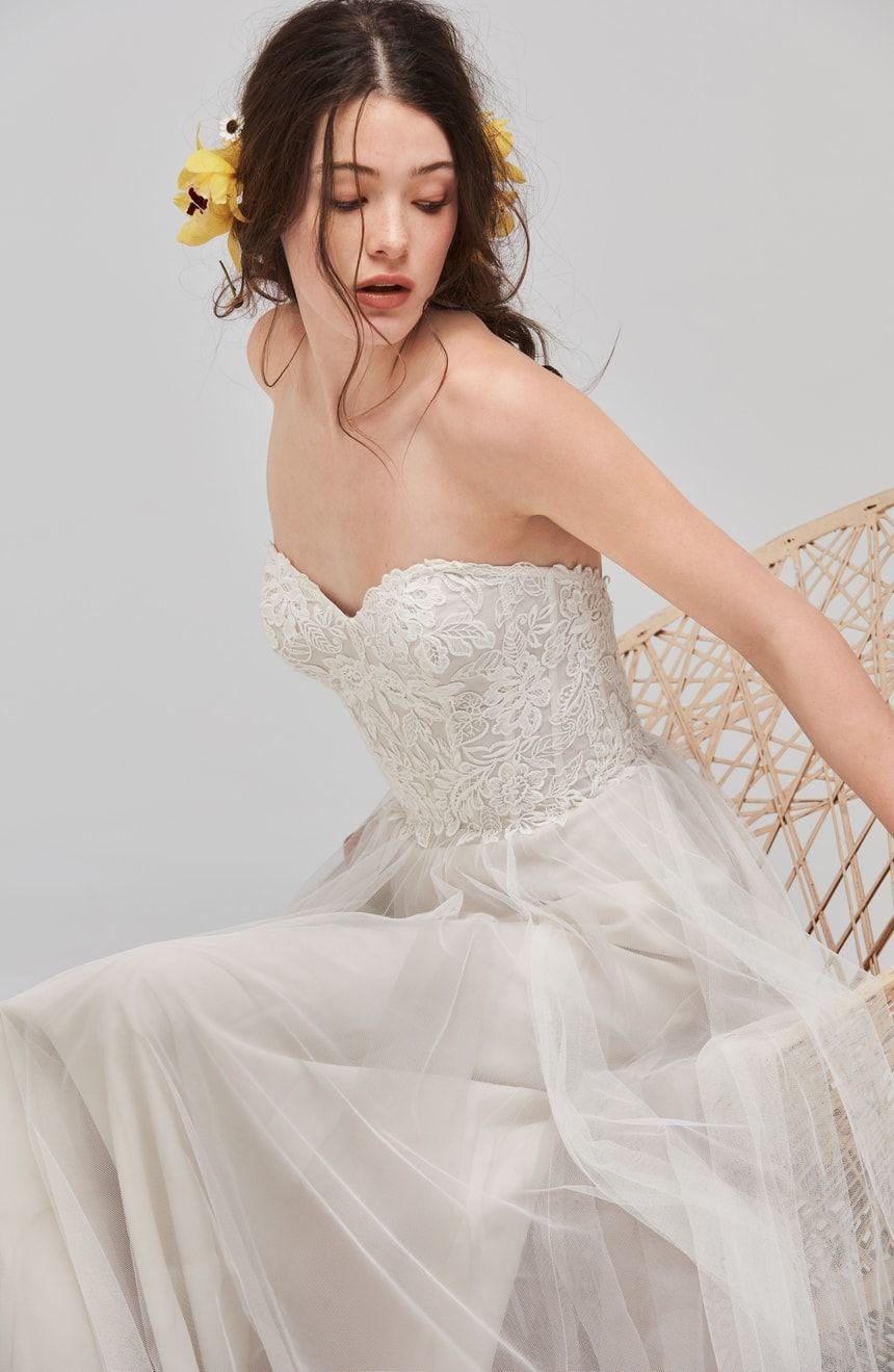 Nordstrom wedding dress  Willowby Mariposa Strapless Appliqué Net u Tulle Gown  Nordstrom