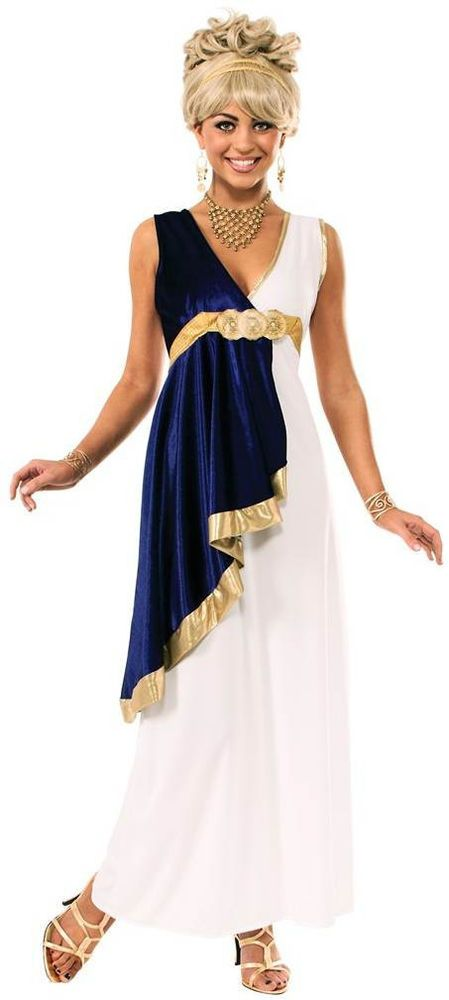 GREEK ROMAN TOGA LADY ADULT FANCY DRESS COSTUME