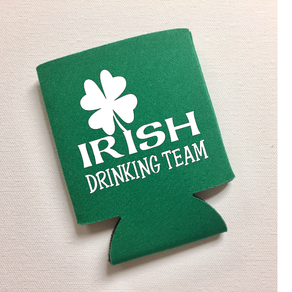 Irish Drinking Team St. Patrick's Day Can Cooler Funny