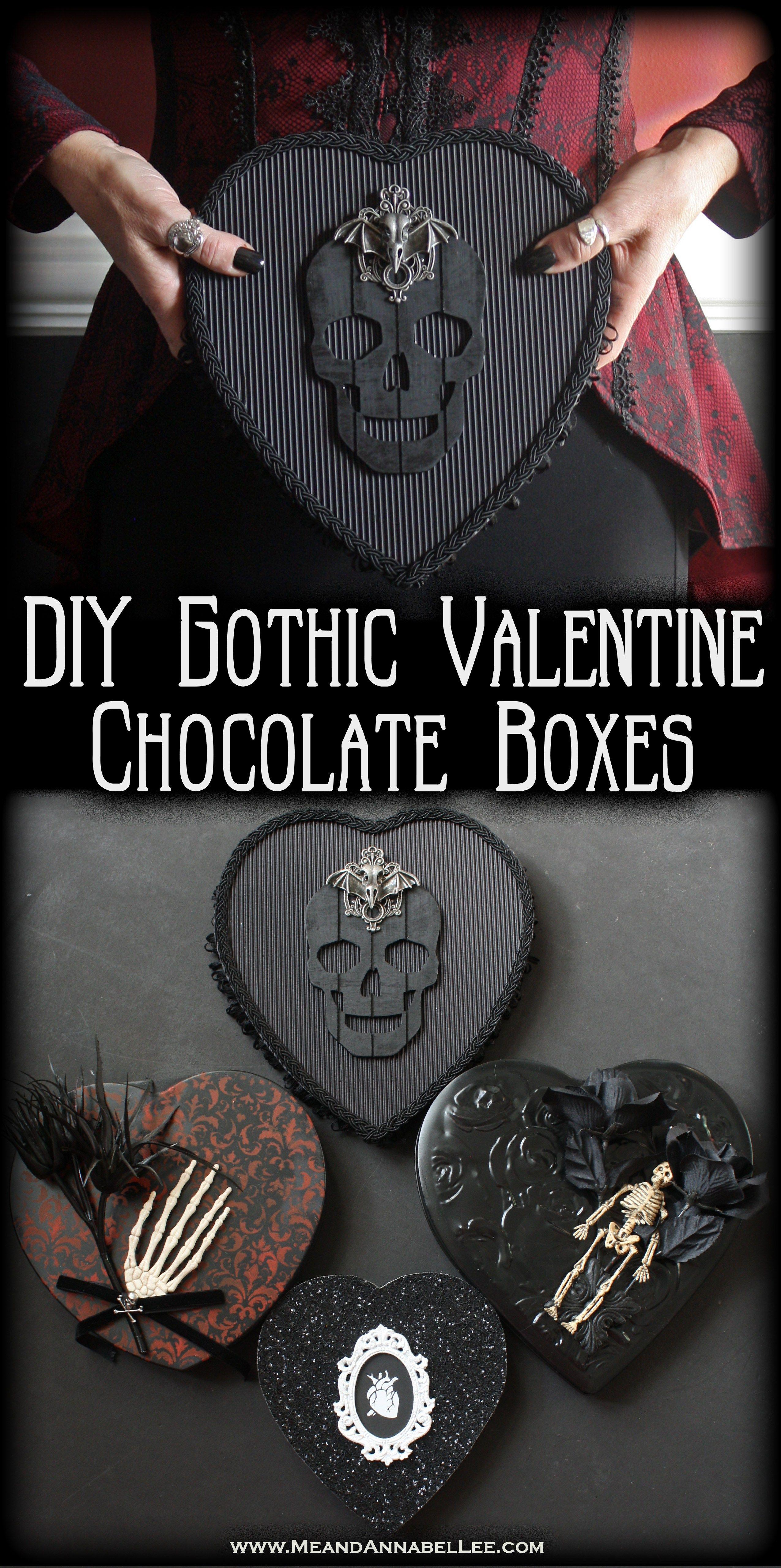 DIY Gothic Valentine Box Variations