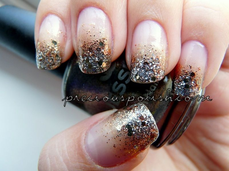 Mixed Metals: Sephora by OPI Don\'t Be Eggnog-ious, a silver glitter ...