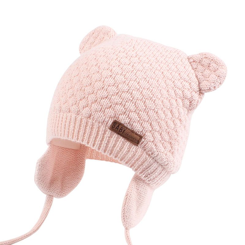 bf9fea430aa Bear Ears Cute Baby Hat Soft Cotton Newborn Baby Beanie Double Layer Warm  Winter Hat For Baby Girls Boys Knitted Kids Hats New-in Hats   Caps from  Mother ...