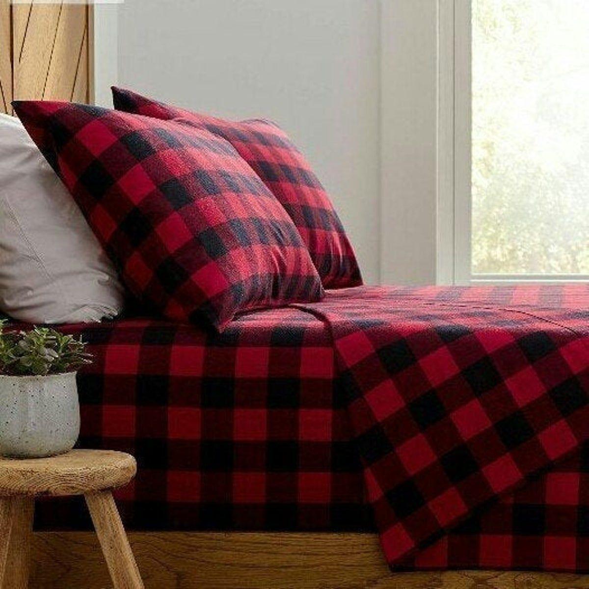 Buffalo Plaid Flannel King Sheets On Mercari Best Bed Sheets Flannel Bed Sheets Cool Beds