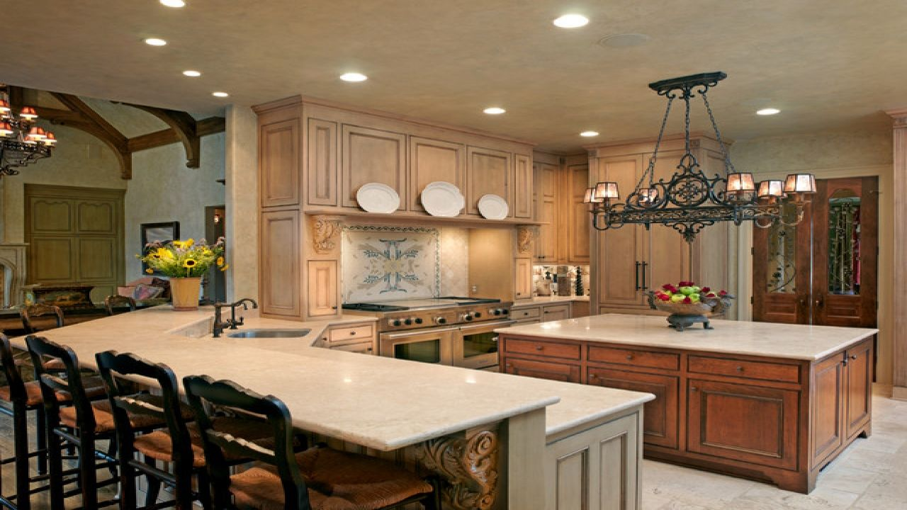 Rustic country style kitchen island french country lighting ideas