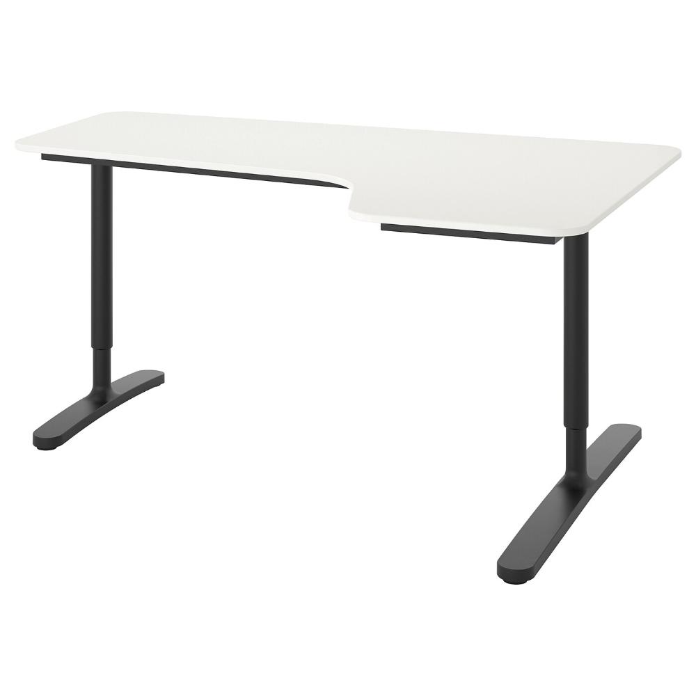 Bekant Corner Desk Right White Black 63x43 1 4 Ikea In 2020 Desk Ikea Bekant Ikea