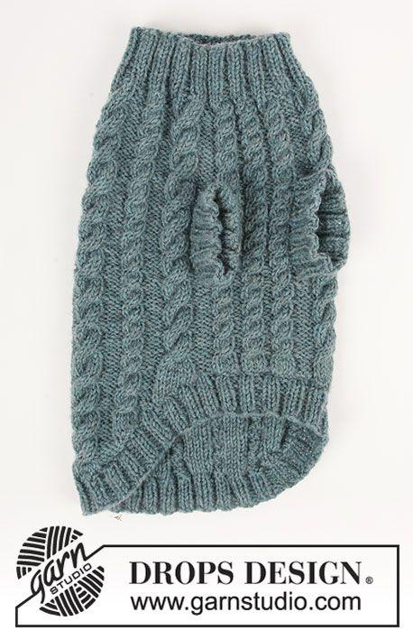 Pull pour chien au tricot, avec torsades. Du XS au M. Se tricote en ...