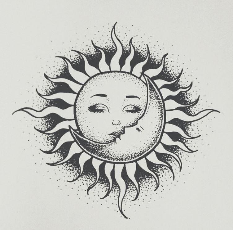 Что означает картинка солнце и луна вместе