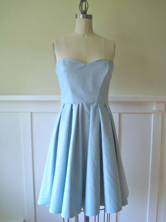 The Alice Party/ Cocktail Dress in Light Blue by VoleedeMoineaux, $150.00