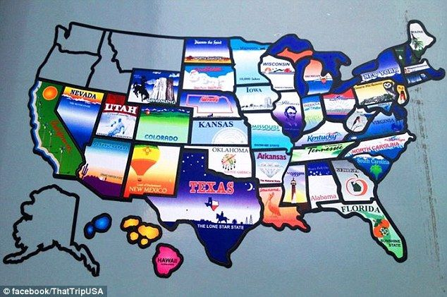 CCI Permanent State USA Map Sticker RV Camper Travel Trailer Th - Us rv traveling map