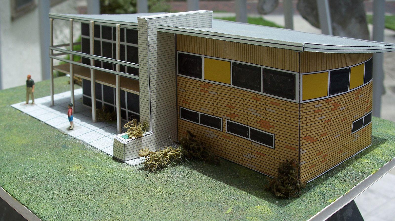 Ho scale papercraft house original design ho scale model building papercraft diorama