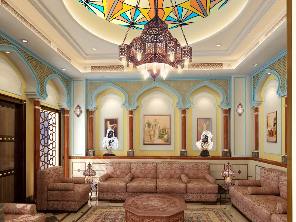 Arabic majlis designs arab mania al majlis middle for Arabic interiors decoration