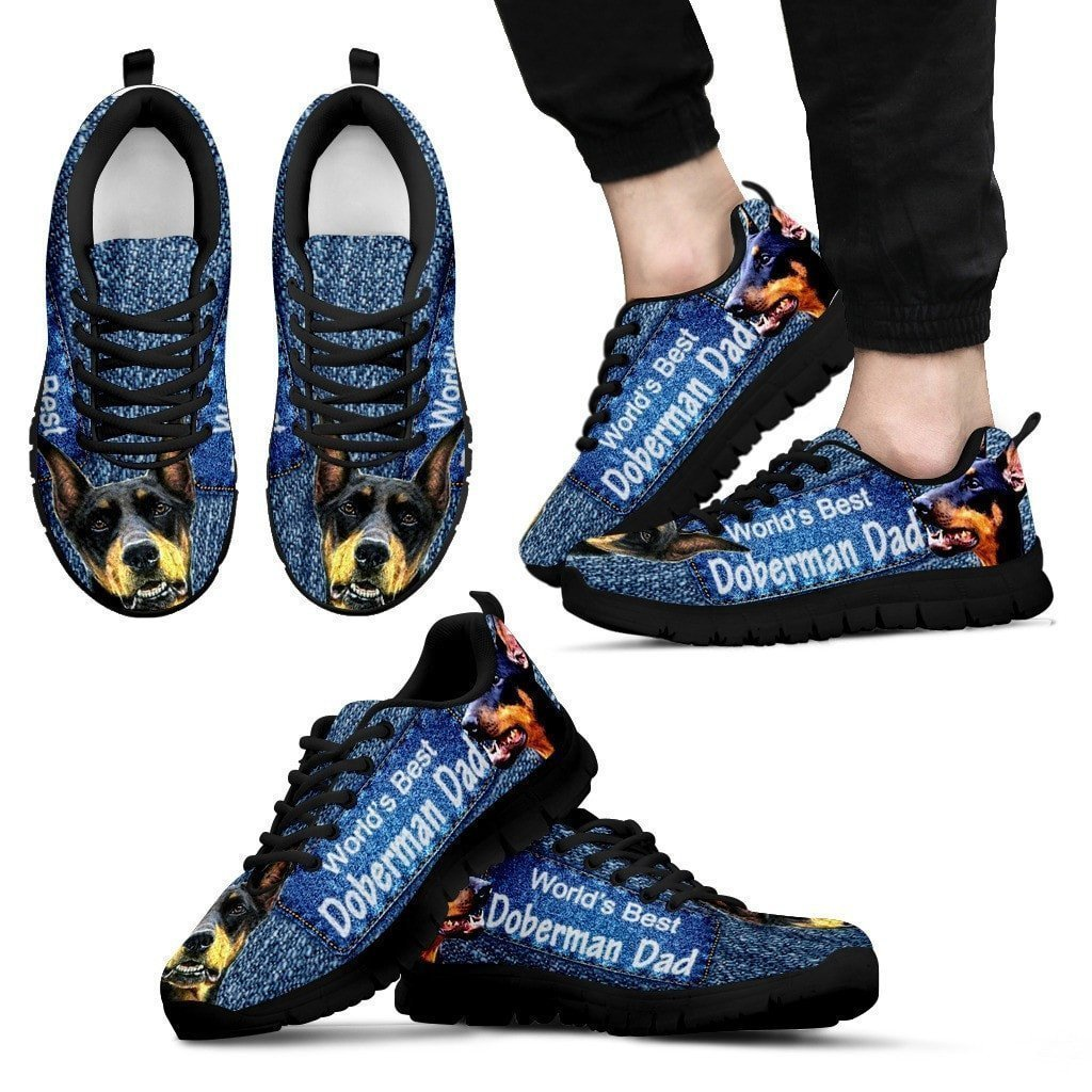 Worlds Best Doberman Pinscher Dad Running Shoes for Men-Fathers Day Special