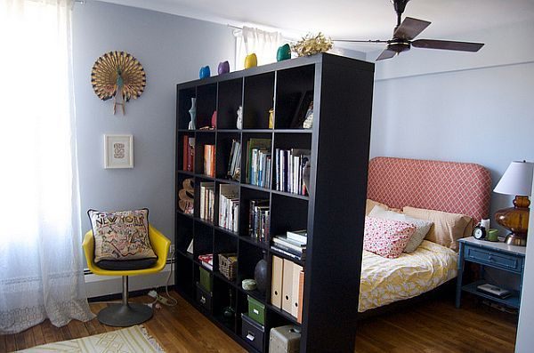 How To Divide A Large Living Room Large bookcase