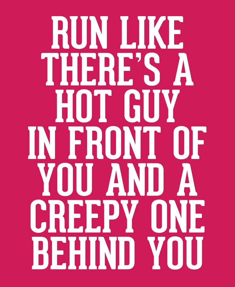 Hot Guy In Front Funny Running Quote Unisex Tank Top by jcanimals