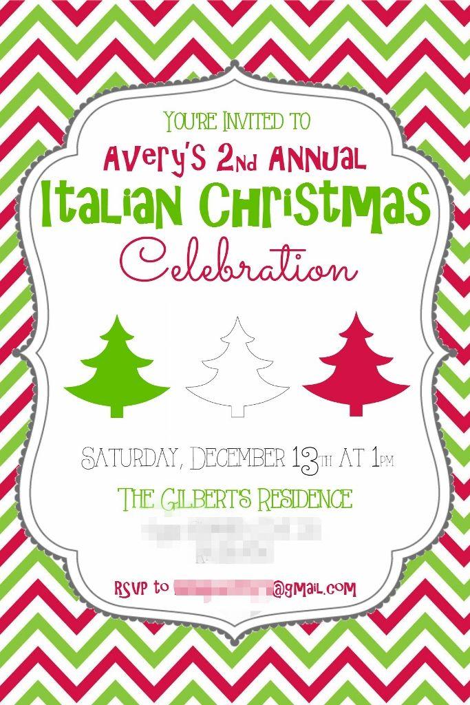 Italian Christmas Invitation #missfrugalfancypants