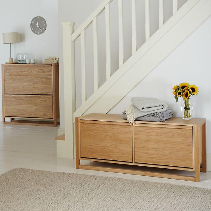 Buy John Lewis Low Shoe Storage Cabinet Oak Online at johnlewis.com & John Lewis Low Shoe Storage Cabinet Oak | For the Home | Pinterest ...