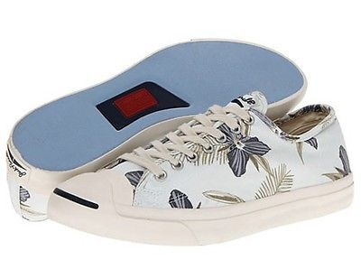 2982b0d6fdc8 NEW Converse Jack Purcell LTT Ox Vaporous Gray Multi Floral Mens Shoes 11