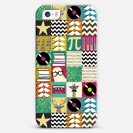 hip hip geek case @Casetagram #geek #owl #deer #giraffe #geometric #sharonturner #scrummy #science #books #school #collage #retro #vinyl #moustache #star #spot #cassette