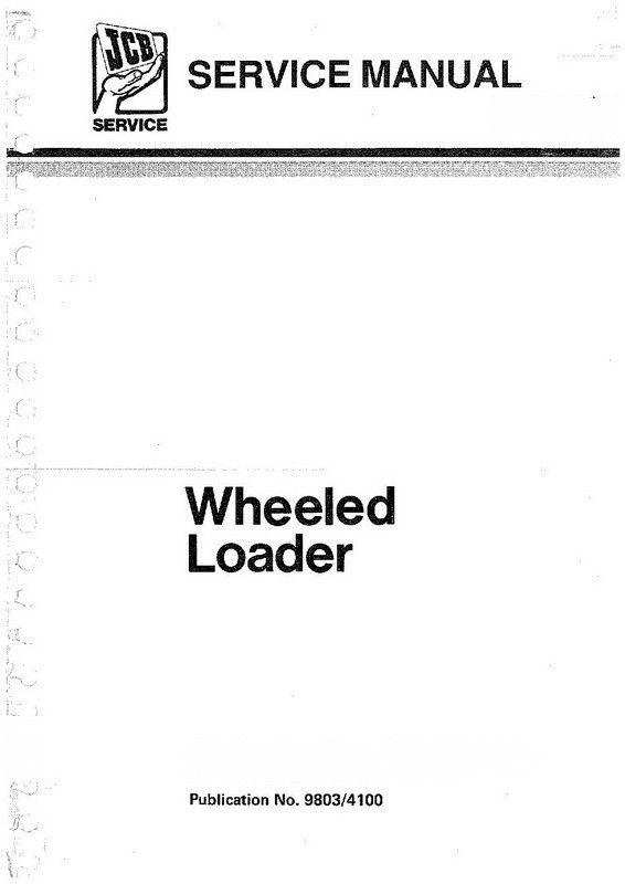 JCB 410, 412, 415, 420, 425, 430 Wheeled Loader Service