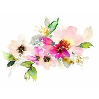 "Noe Removable Nursery Spring Floral 10' L x 120"" W Peel"