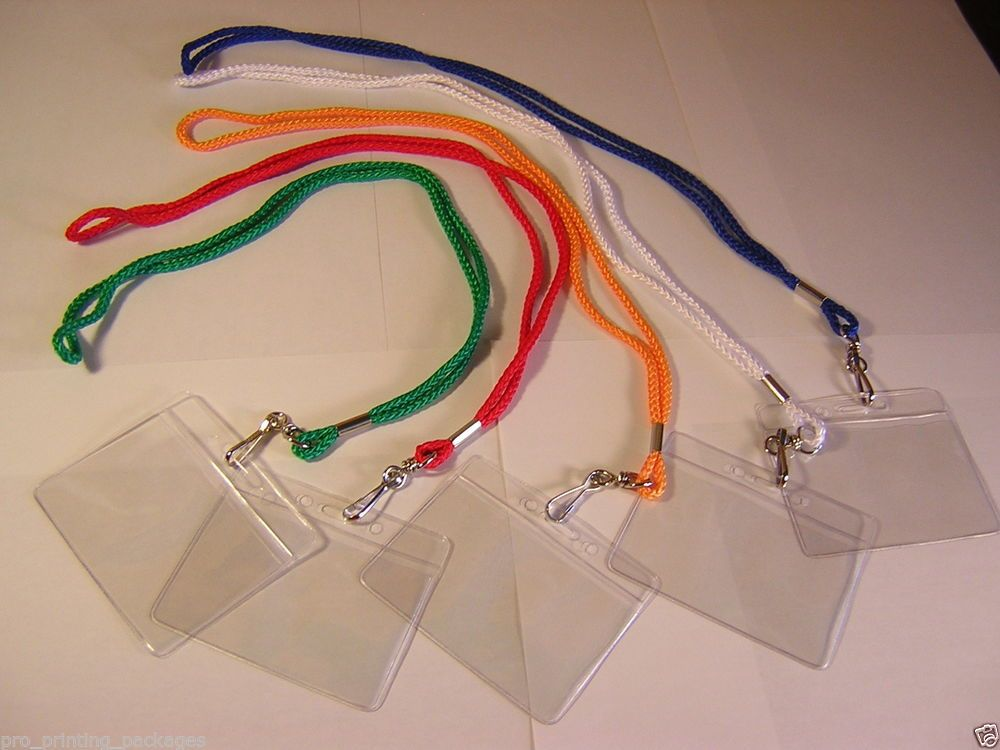LOT 20 NECK STRAPS LANYARD/LANYARDS AND 20 ID BADGE CARD SAFETY HOLDER/HOLDERS  $0.40/pp