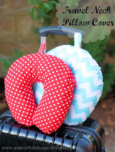 This Is A Clever Tutorial For Covering A Travel Pillow Sewing Beauteous Diy Neck Pillow Cover