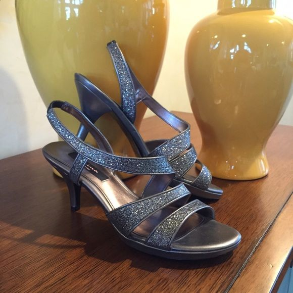 Nina Sparkly Heels! Nina Sparkly Heels. Composition Leather. Worn once or twice. Great Condition. #0-4-79 Nina Shoes