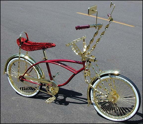 Lowrider Bicycle Grips Gold Twisted Chopper Beach Cruiser Bike Really Nice