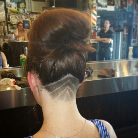 Underneath Hair Shaved With Design Candys Hair Portfolio