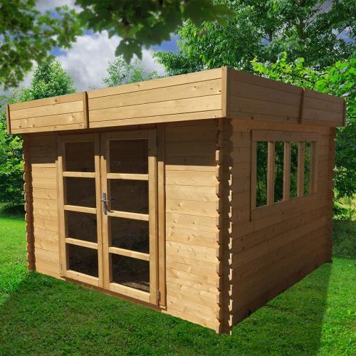 Abri de jardin Abri de Jardin Bois Soleil Toit Plat 3 x 3 m - 888 - extension maison bois 20m2