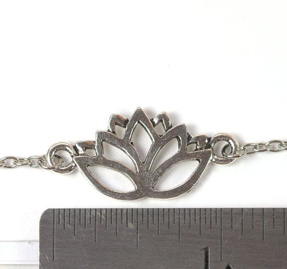 Silver Lotus Necklace Antique Silver Necklace by TheresaRose