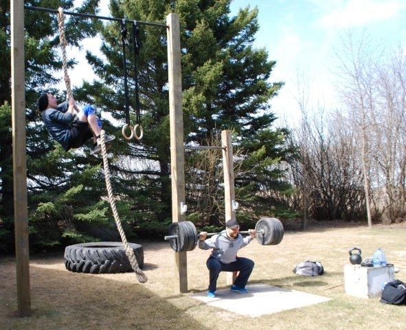 somewhere in rural manitoba projects outdoor gym, backyardcrossfit routines, crossfit at home, crossfit