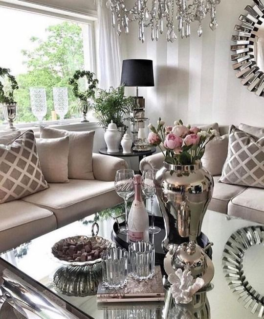 45 Creative Glam Living Room #livingroom #livingroomdesign #livingroomideas#creative #glam #living #livingroom #livingroomdesign #livingroomideas #room