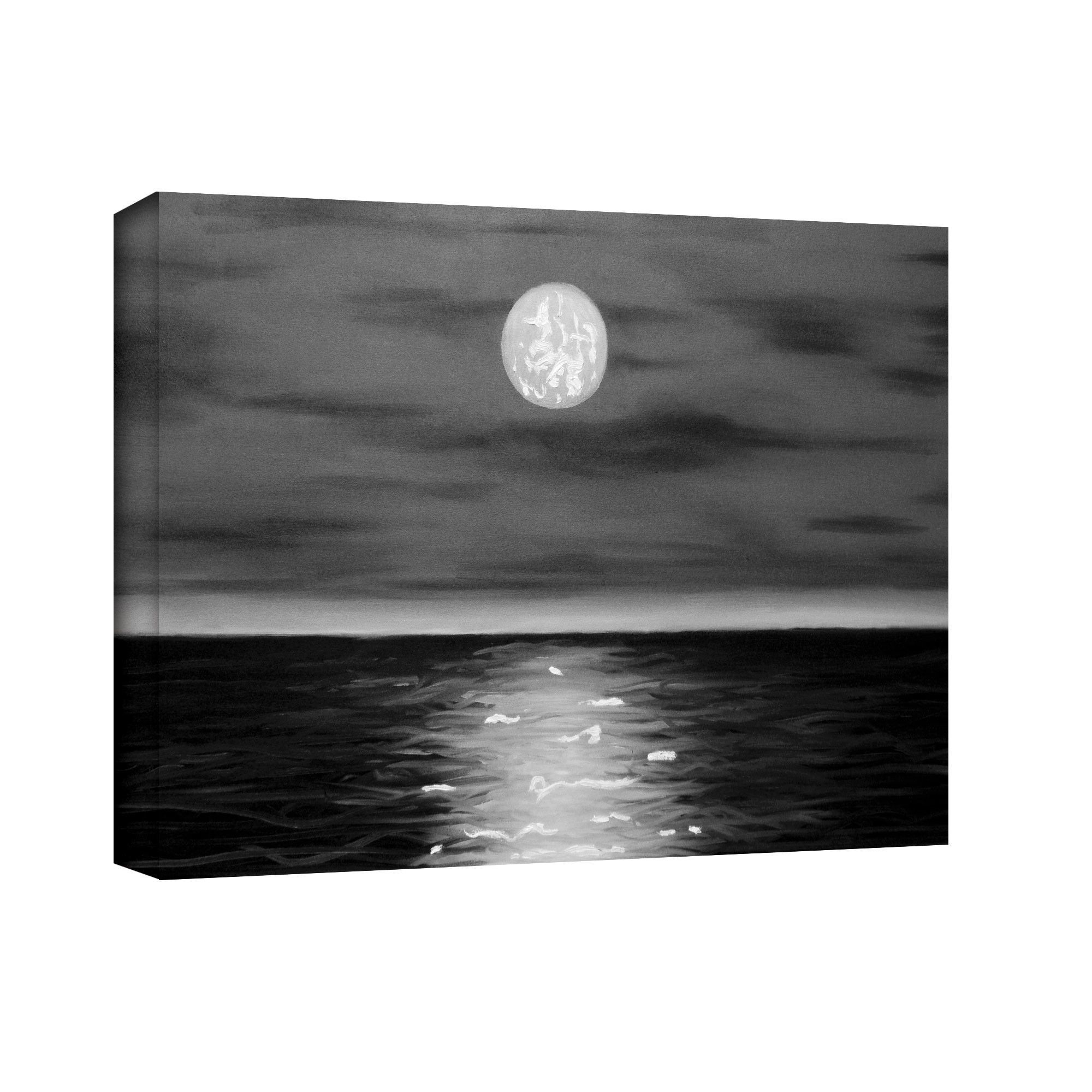 'Moon Rising' by Jim Morana Painting Print Gallery-Wrapped on Canvas